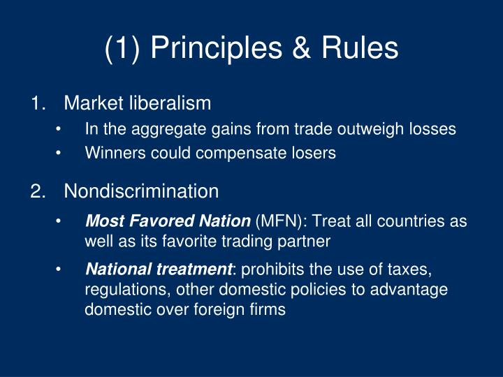 most favored nation principle