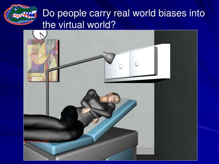 Do people carry real world biases into the virtual world?