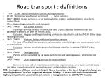road transport definitions2
