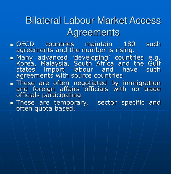 Bilateral Labour Market Access Agreements