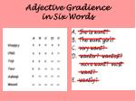 adjective gradience in six words