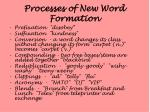 processes of new word formation