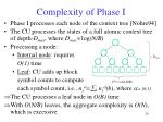 complexity of phase i
