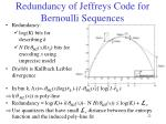 redundancy of jeffreys code for bernoulli sequences
