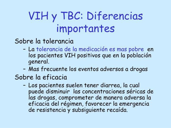 VIH y TBC: Diferencias importantes