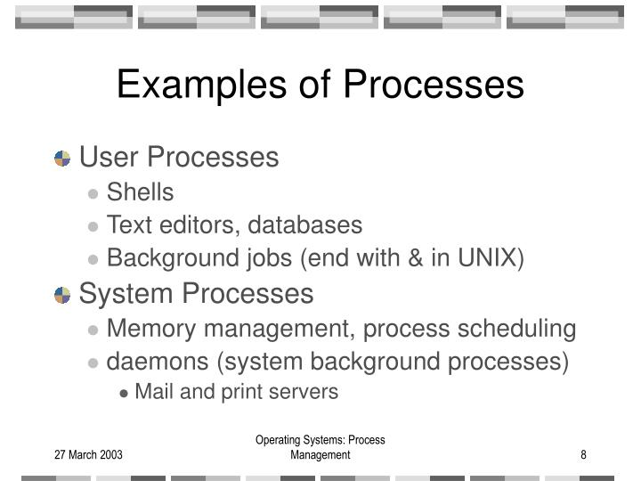 Examples of Processes