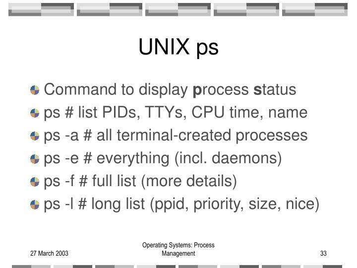 UNIX ps