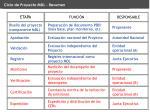 ciclo de proyecto mdl resumen