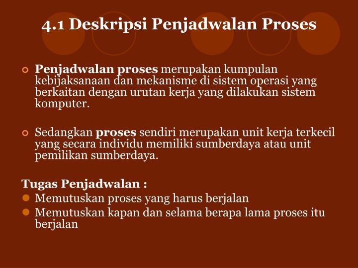 4 1 deskripsi penjadwalan proses