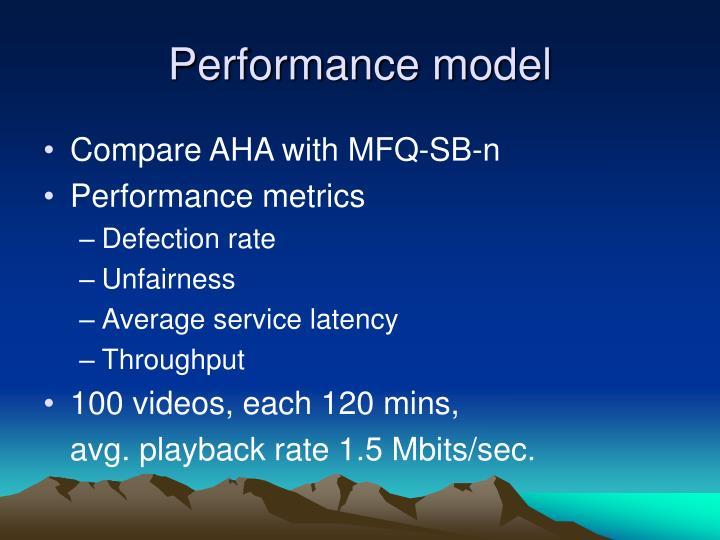 Performance model