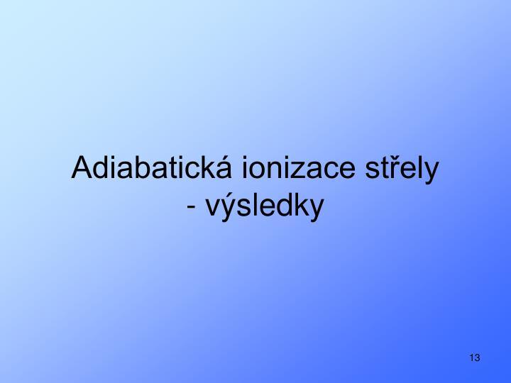 Adiabatická ionizace střely