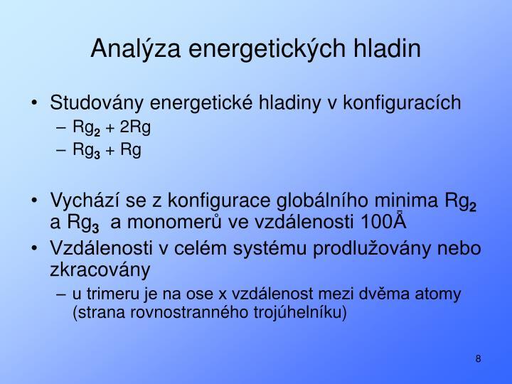 Analýza energetických hladin