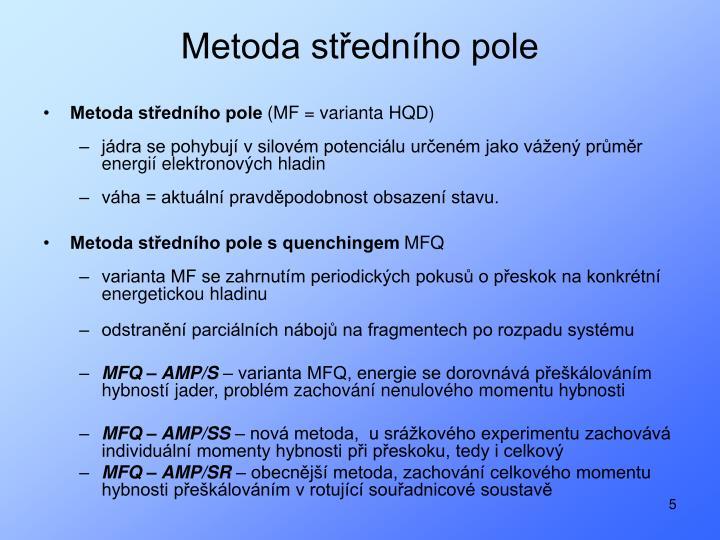 Metoda středního pole