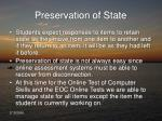 preservation of state