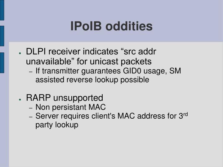 IPoIB oddities