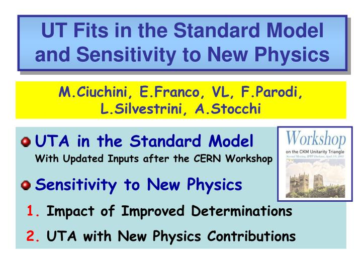 UT Fits in the Standard Model and Sensitivity to New Physics