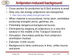 antiproton induced background