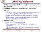 cosmic ray background