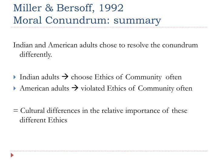 Miller & Bersoff, 1992