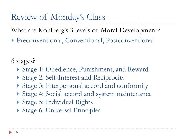 Review of Monday's Class