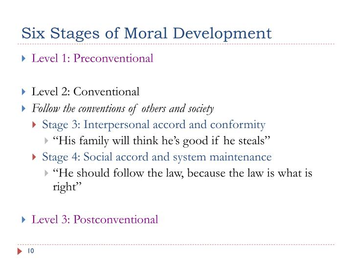 Six Stages of Moral Development