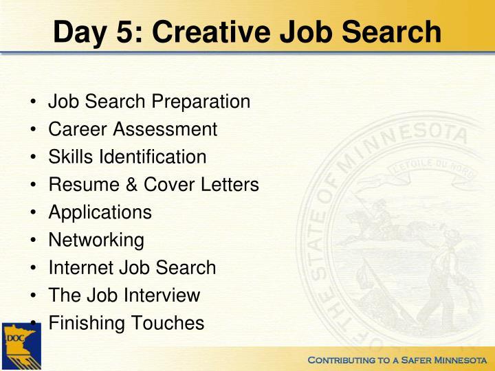 Day 5: Creative Job Search