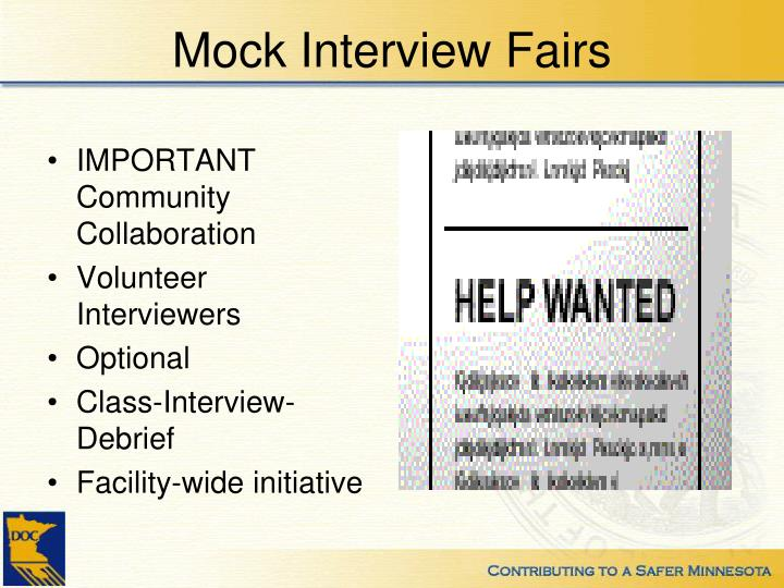 Mock Interview Fairs