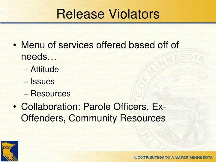 Release Violators