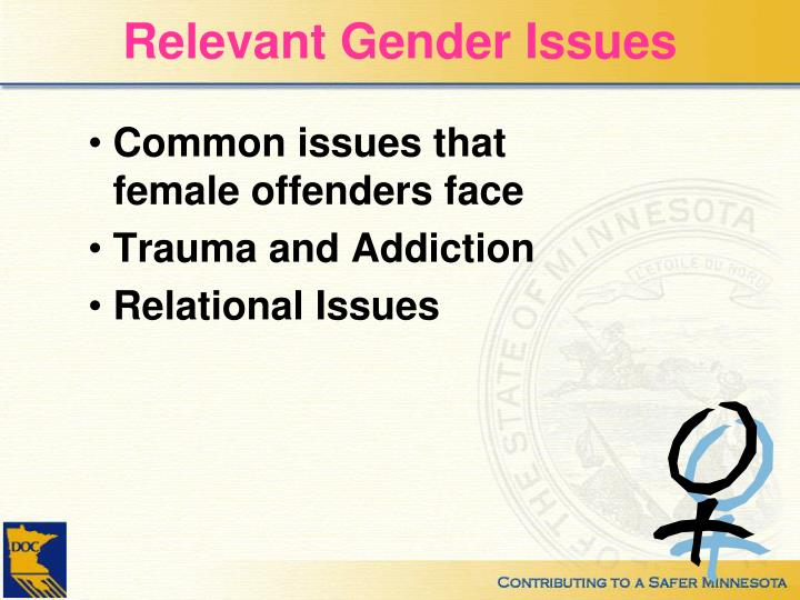 Relevant Gender Issues