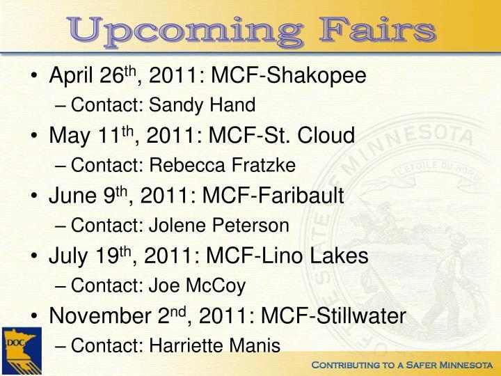 Upcoming Fairs