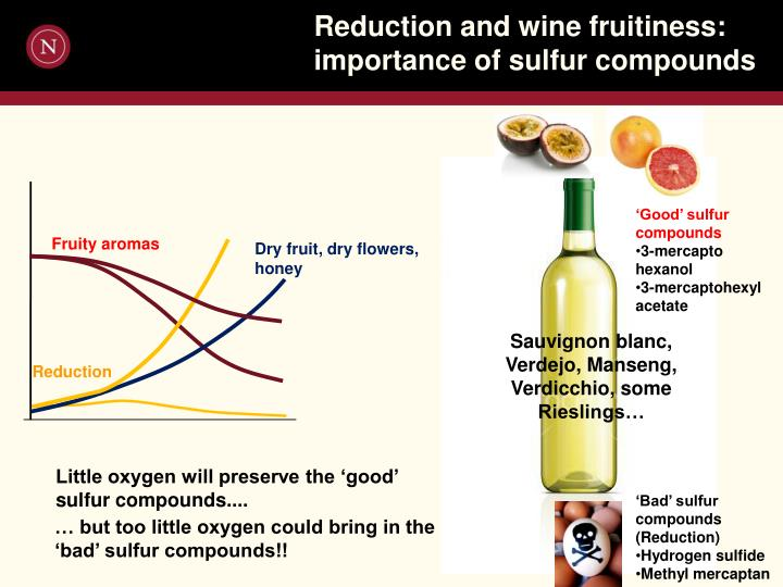 Reduction and wine fruitiness: importance of sulfur compounds