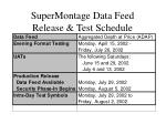 supermontage data feed release test schedule