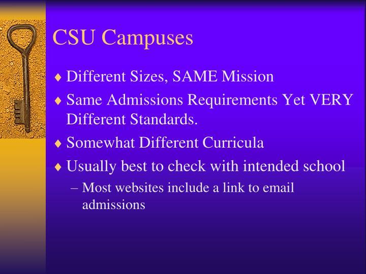 CSU Campuses