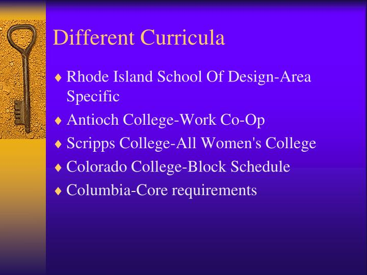 Different Curricula