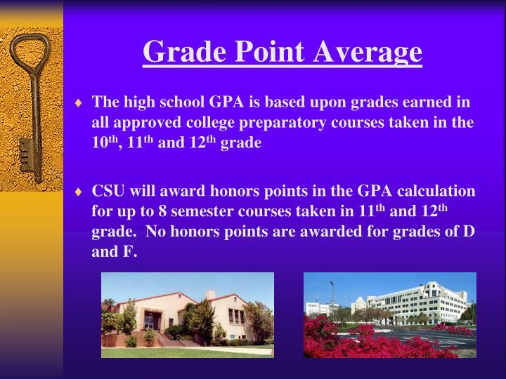 Grade Point Average