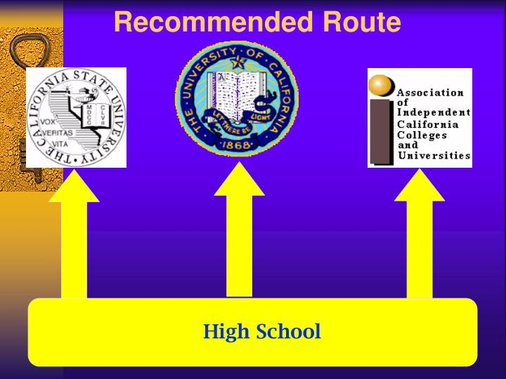 Recommended Route
