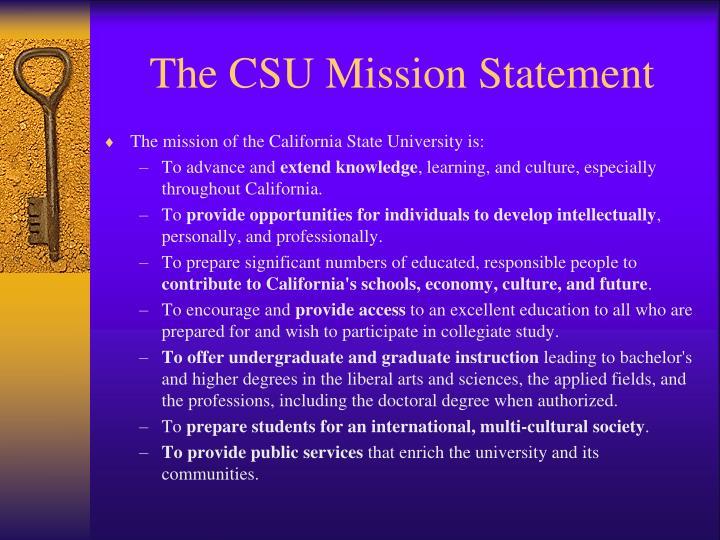 The CSU Mission Statement