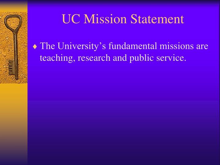 UC Mission Statement