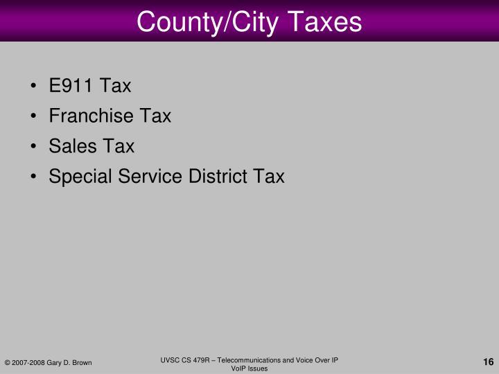County/City Taxes