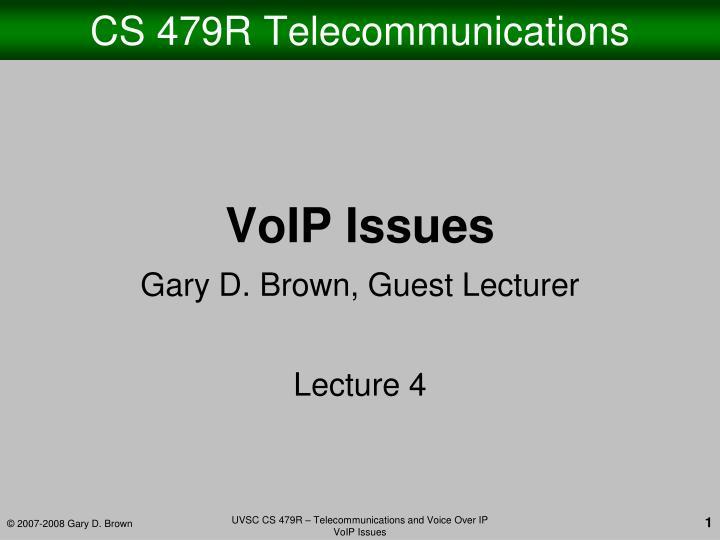 Cs 479r telecommunications