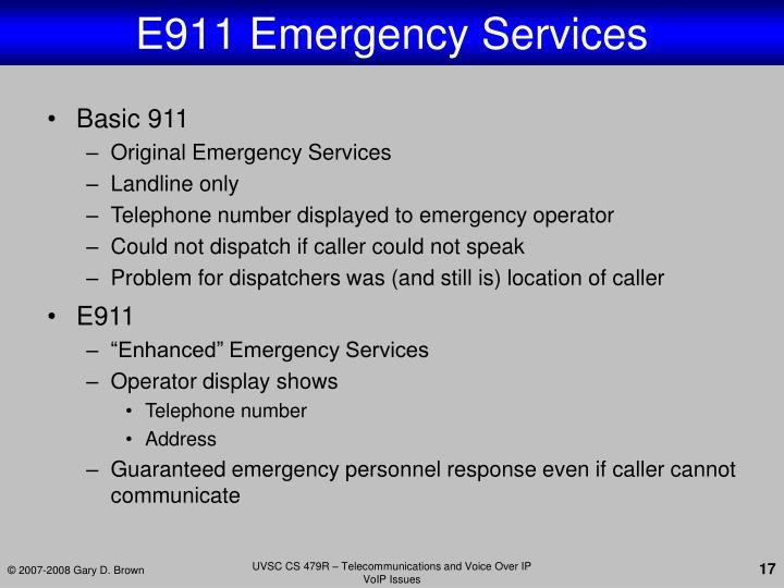 E911 Emergency Services