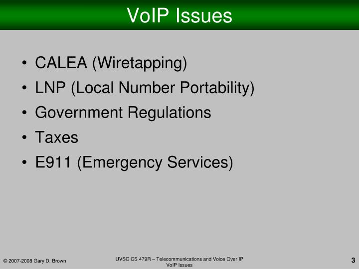 Voip issues1