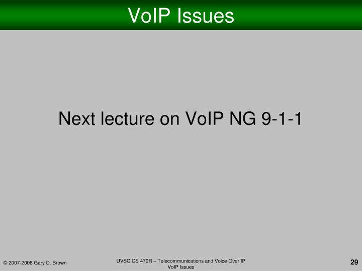 VoIP Issues