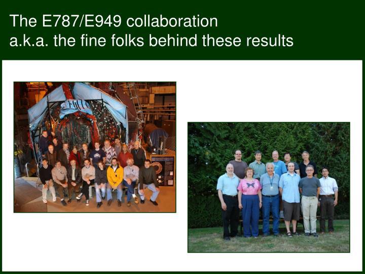 The E787/E949 collaboration