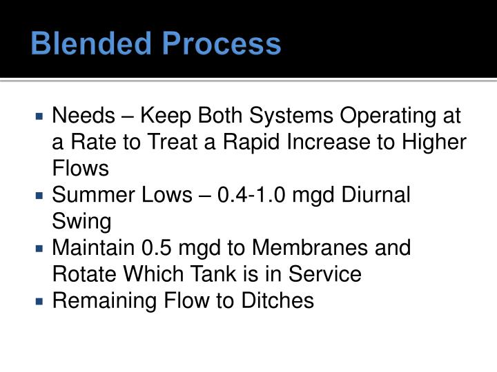 Blended Process