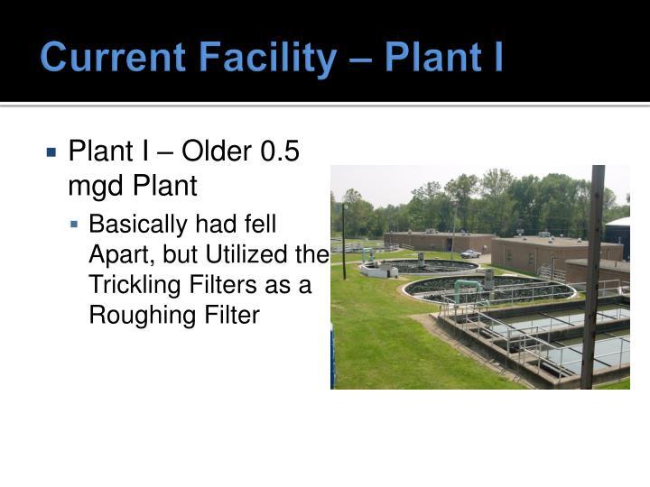 Current Facility – Plant I