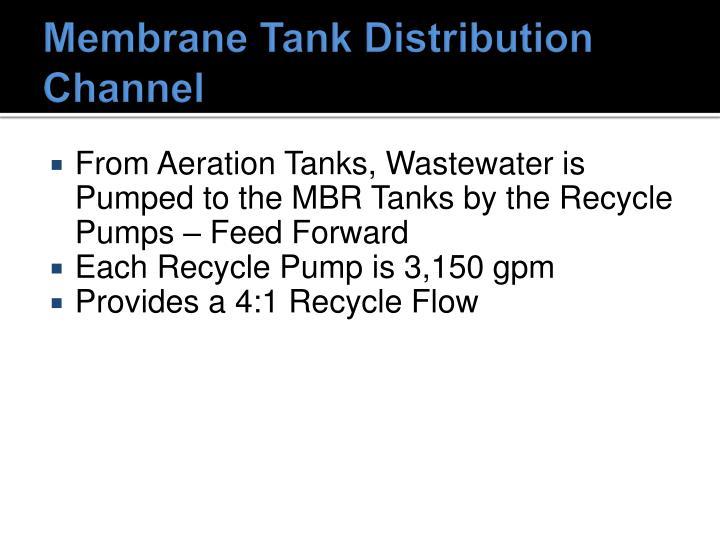 Membrane Tank Distribution Channel