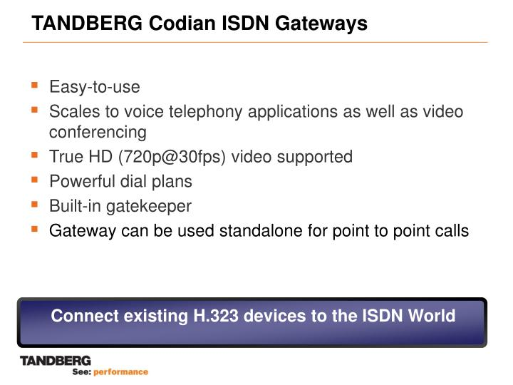 Tandberg codian isdn gateways