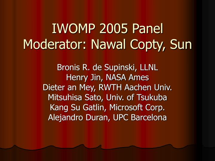iwomp 2005 panel moderator nawal copty sun n.
