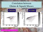 correlation between gluino squark masses